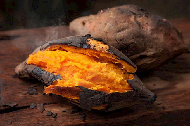 Baked sweet potato - caloies, wieght