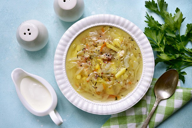 Cabbage soup - caloies, wieght