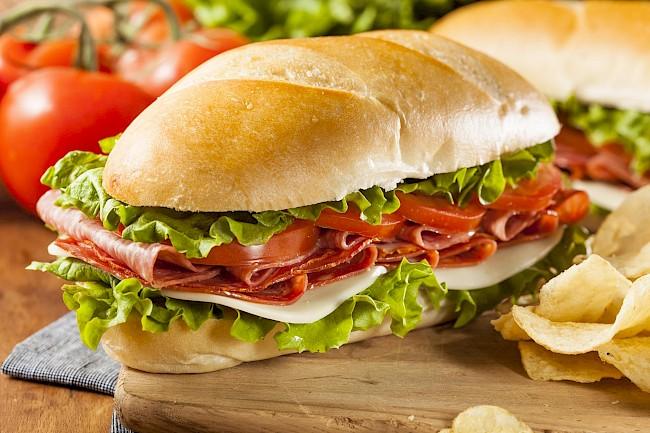 Italian sub - caloies, wieght