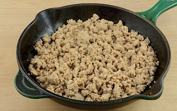 Cooked ground turkey - calories, nutrition, weight