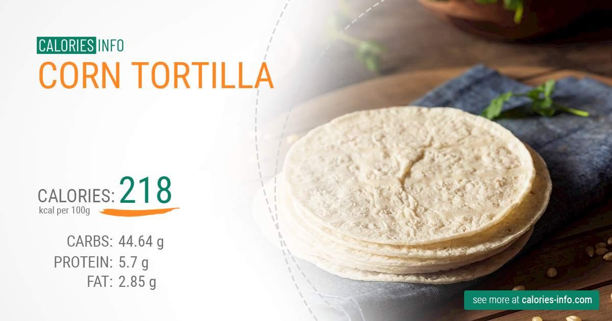 Calories In Corn Tortilla I Ve Analysed It Calories Info Com