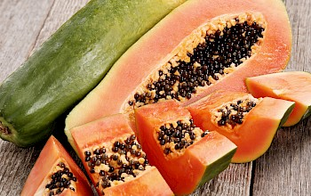 Papaya - calories, nutrition, weight