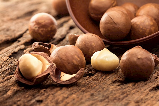 Macadamia nuts - calories, kcal, weight, nutrition