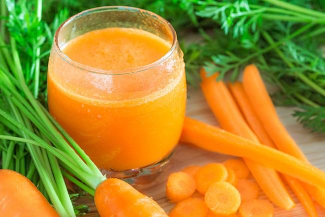 Carrot juice - nutrition, vitamins, minerals