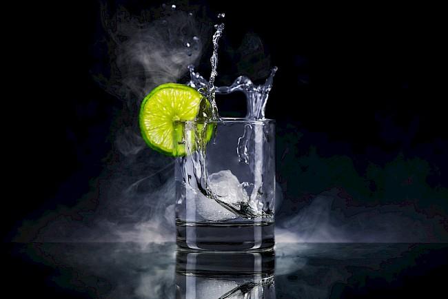 Gin - caloies, wieght