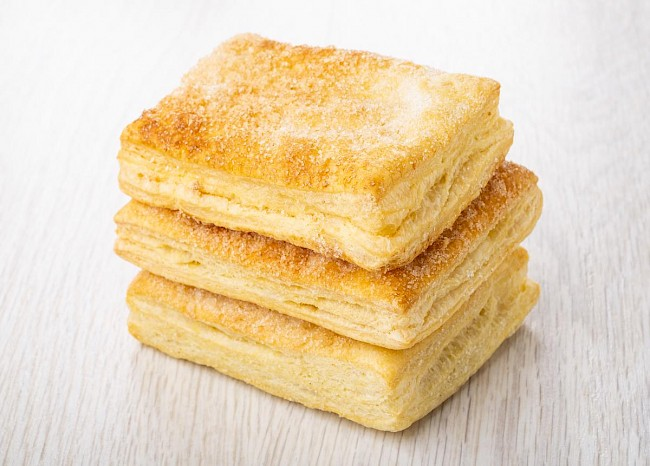 Puff pastry - nutrition, vitamins, minerals