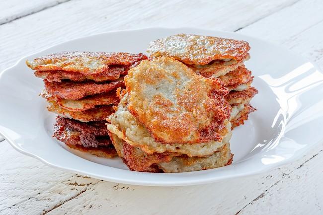 Potato pancakes - caloies, wieght